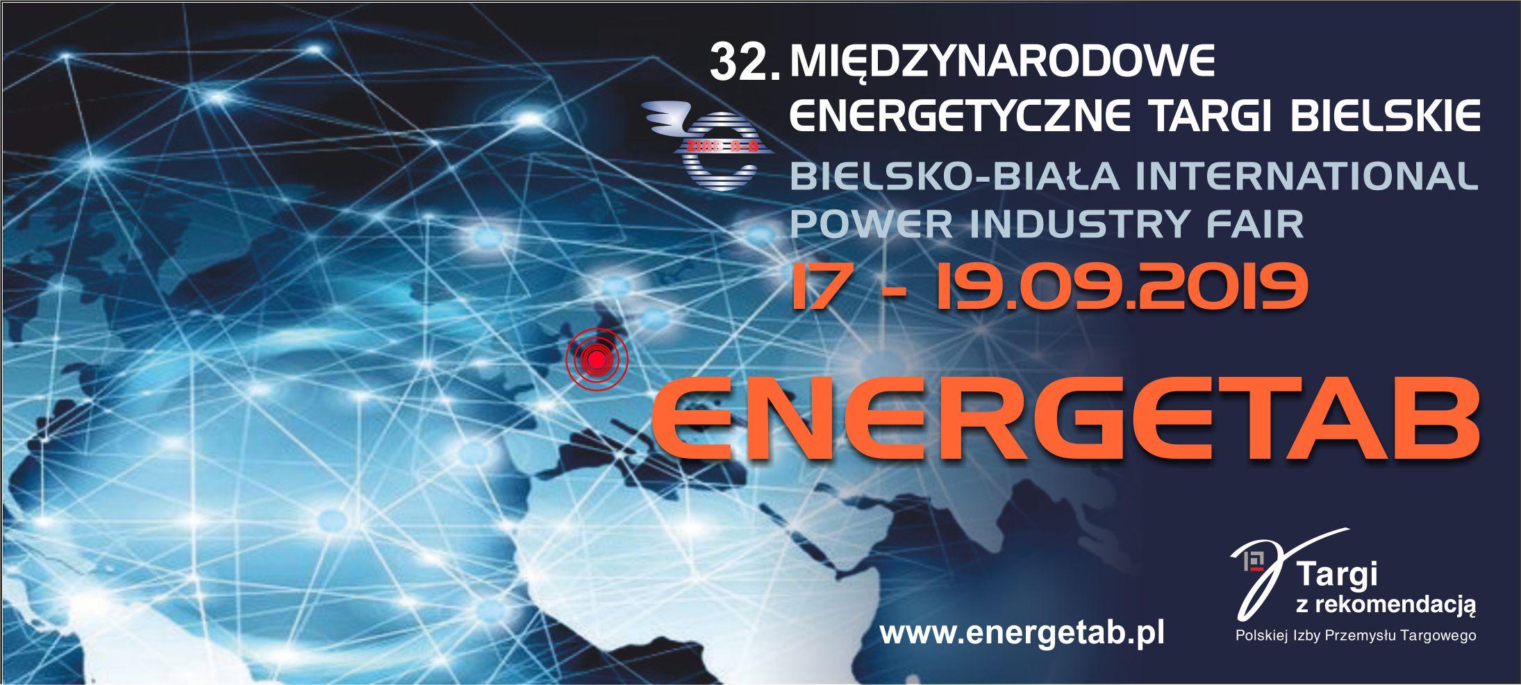 Zapraszamy naENERGETAB – największe wPolsce targi energetyki ielektrotechniki